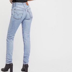 Levi's- High Rise 501 Button Fly Skinny Jeans 24